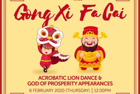 Acrobatic Lion Dance & God of Prosperity