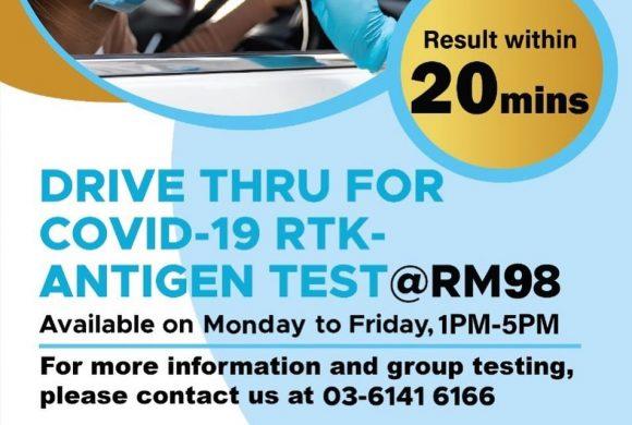 Drive Thru for COVID-19 RTK-Antigen Test