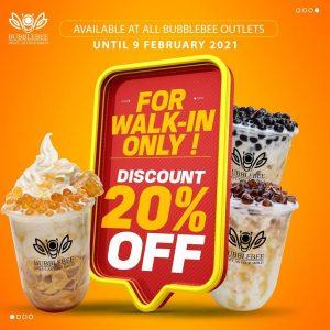 Bubblebee Discount 20% OFF!