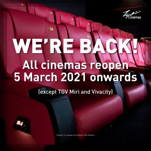 TGV Cinemas Reopen!