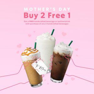 Mother's Day Buy 2 Free 1 @ Starbucks