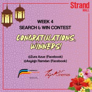 Congratulations Winners Week 4