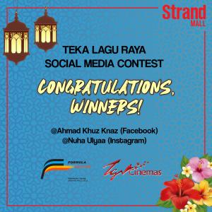 Congratulations Winners